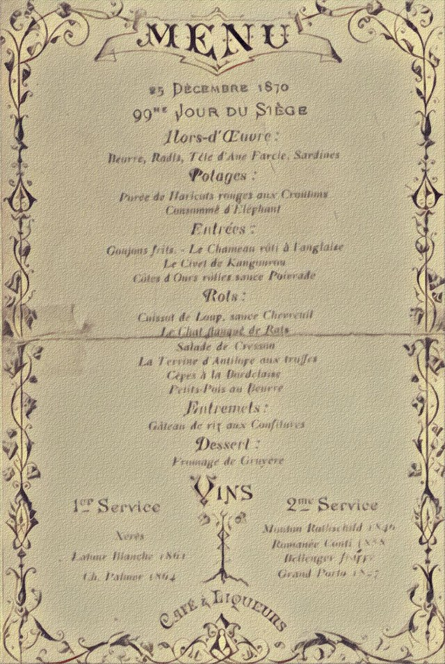 menu seige